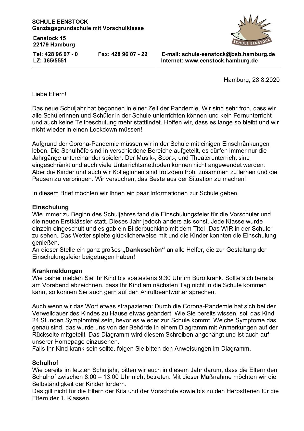 20. Elternbrief – 20.20.20   Schule Eenstock